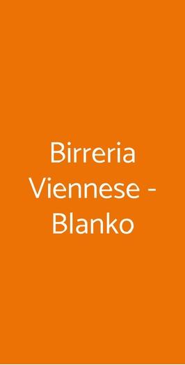 Birreria Viennese - Blanko, Roma