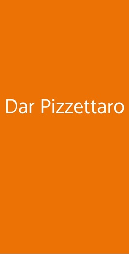 Dar Pizzettaro, Roma
