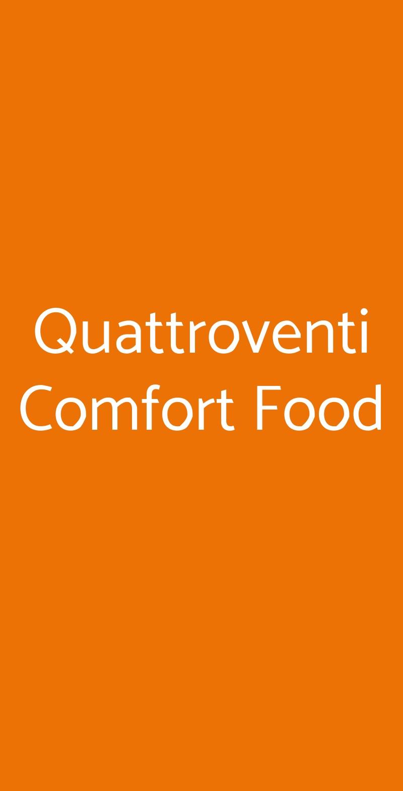 Quattroventi Comfort Food Palermo menù 1 pagina