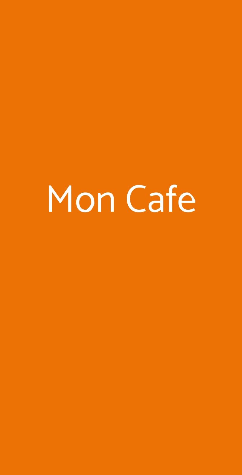 Mon Cafe Palermo menù 1 pagina