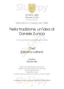 Menu Ristorante Zunica 1880