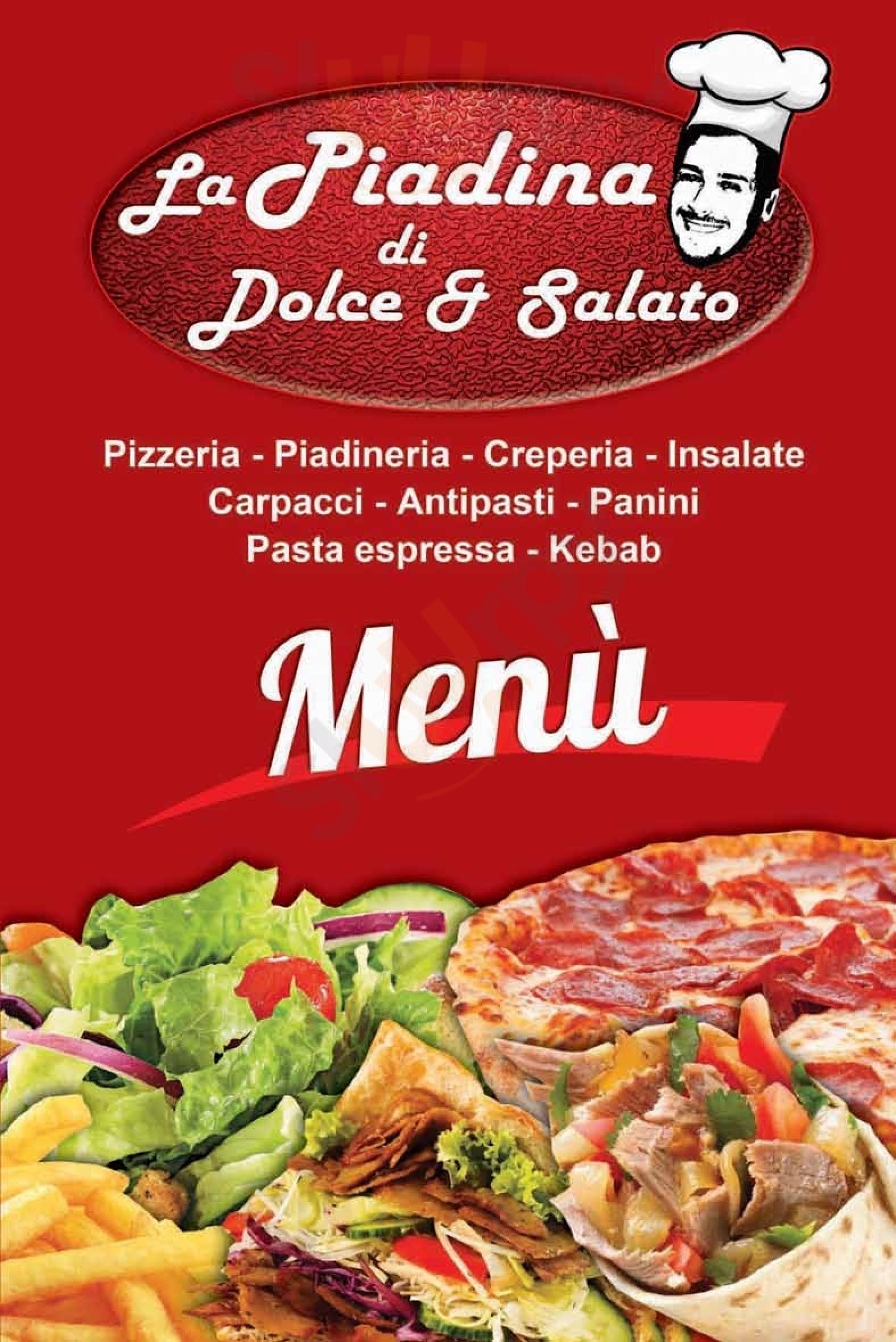 La Piadina di Dolce & Salato Palermo menù 1 pagina