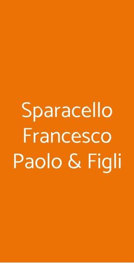 Sparacello Francesco Paolo & Figli, Palermo