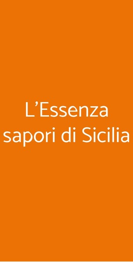 L'essenza Sapori Di Sicilia, Misilmeri