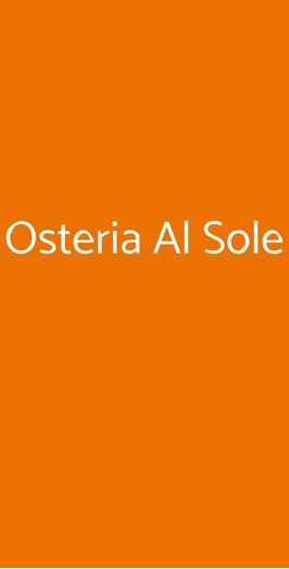 Osteria Al Sole, Montebelluna