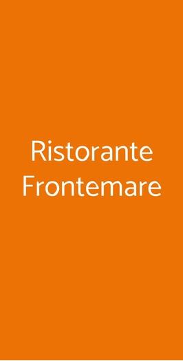 Ristorante Frontemare, Olbia
