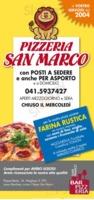 Menu Pizzeria San Marco