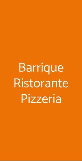 Barrique Ristorante Pizzeria, Roma