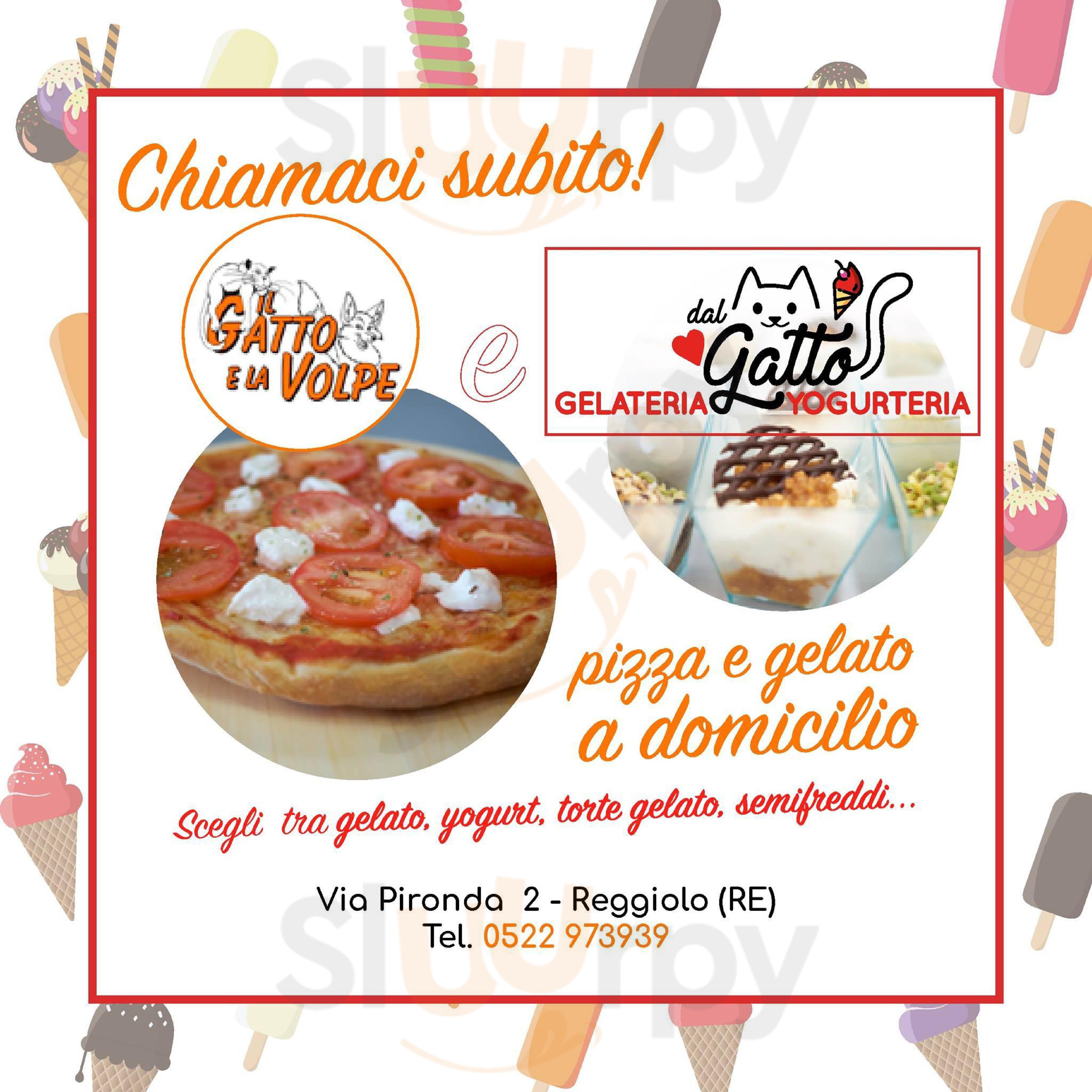 Menù Ristorante Pizzeria Il Gatto E La Volpe Taglio E Asporto A Reggiolo