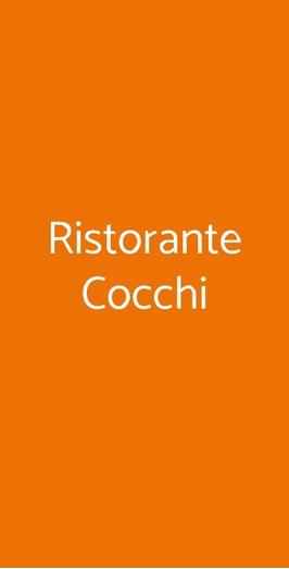 Menu Ristorante Cocchi