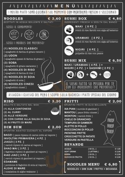 Menu Noodles & Sushi