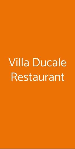 Villa Ducale Restaurant a Parma - Menù, prezzi, recensioni ...