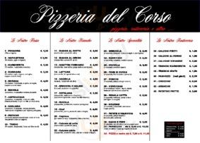 Menu Pizzeria del Corso