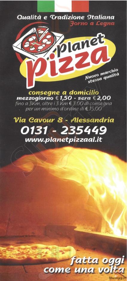PLANET PIZZA - Alessandria Alessandria menù 1 pagina