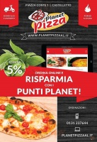 Menu PLANET PIZZA - Castelletto Monferrato