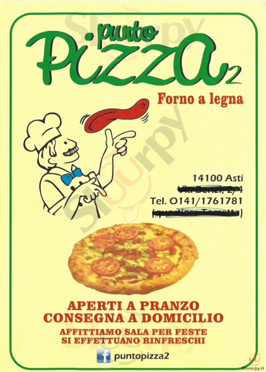 PUNTO PIZZA 2 Asti menù 1 pagina