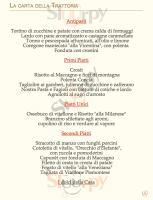 Foto del menù di LA TRATTORIA IN RIVA