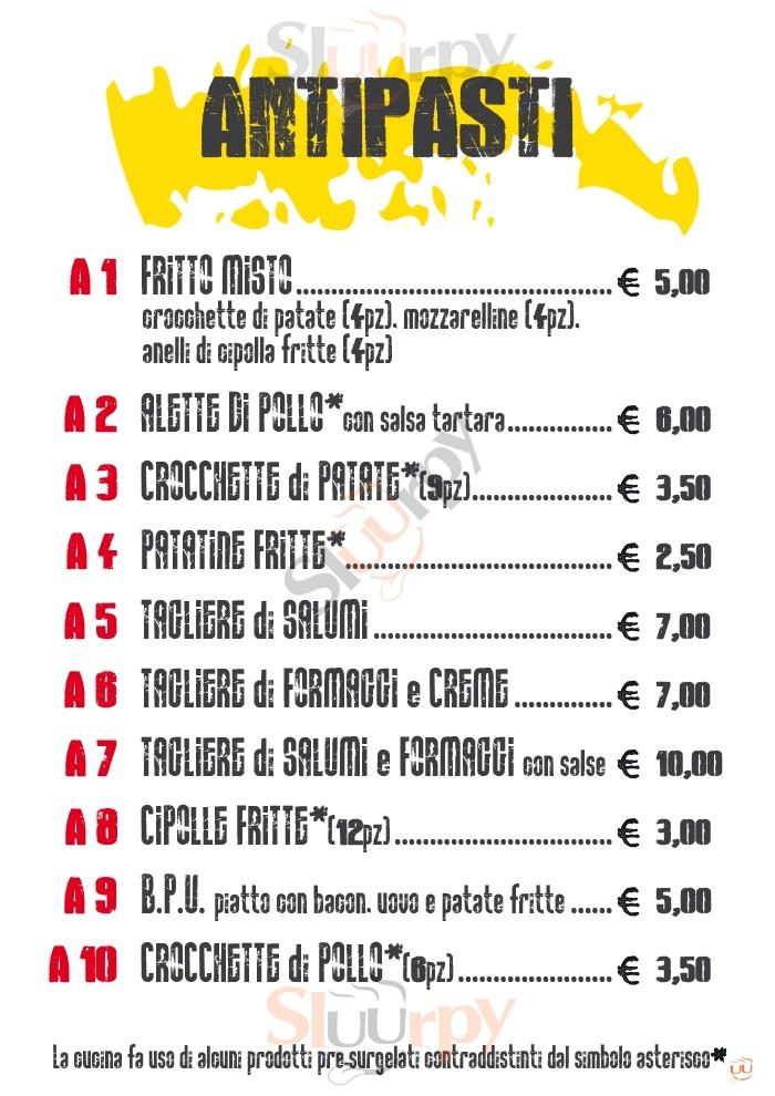 WOOD PUB Gaglianico menù 1 pagina