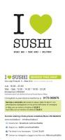 Menu I LOVE SUSHI