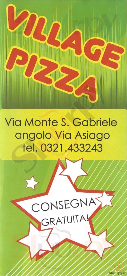 VILLAGE PIZZA Novara menù 1 pagina