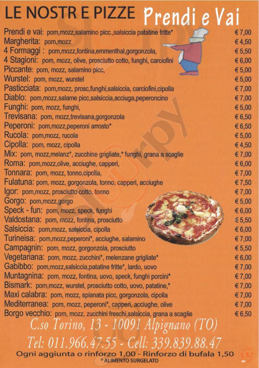 PRENDI E VAI Alpignano menù 1 pagina