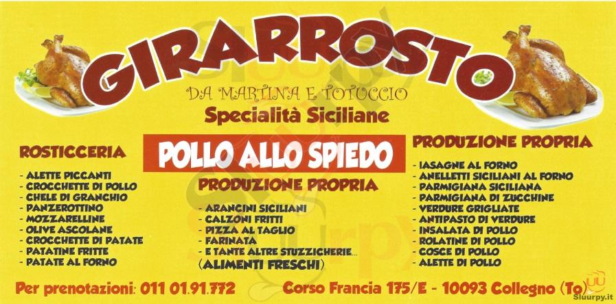 GIRARROSTO Collegno menù 1 pagina