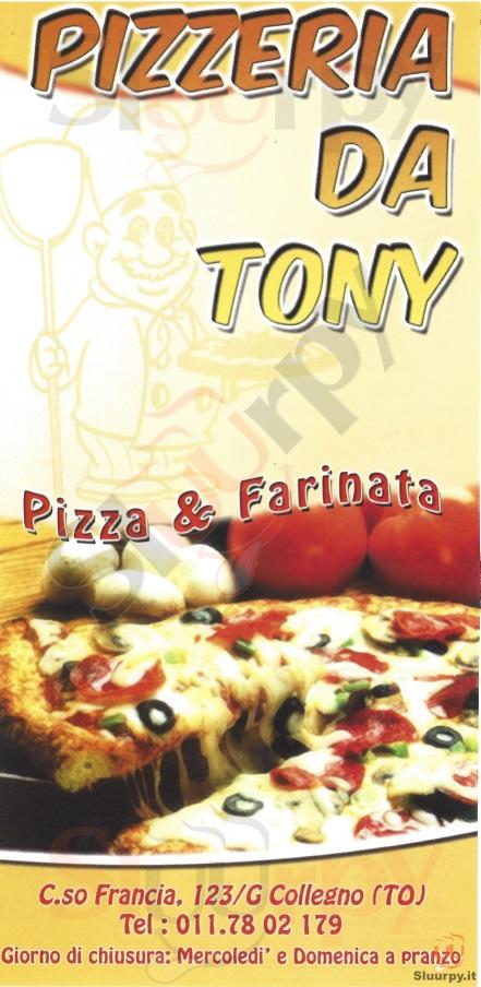 DA TONY Collegno menù 1 pagina