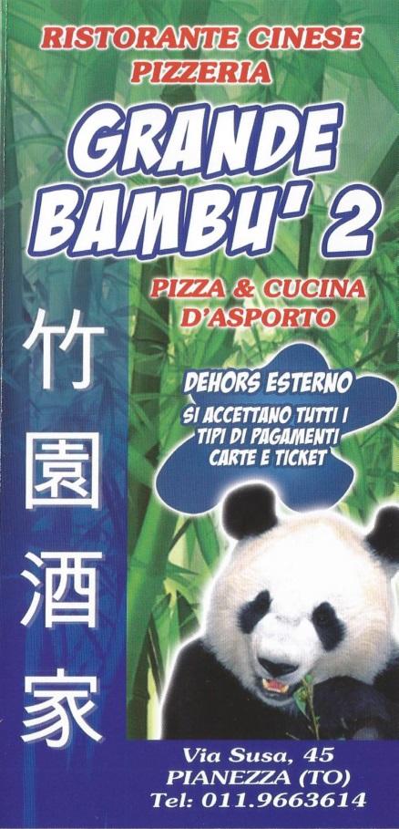 GRANDE BAMBU' 2 Pianezza menù 1 pagina