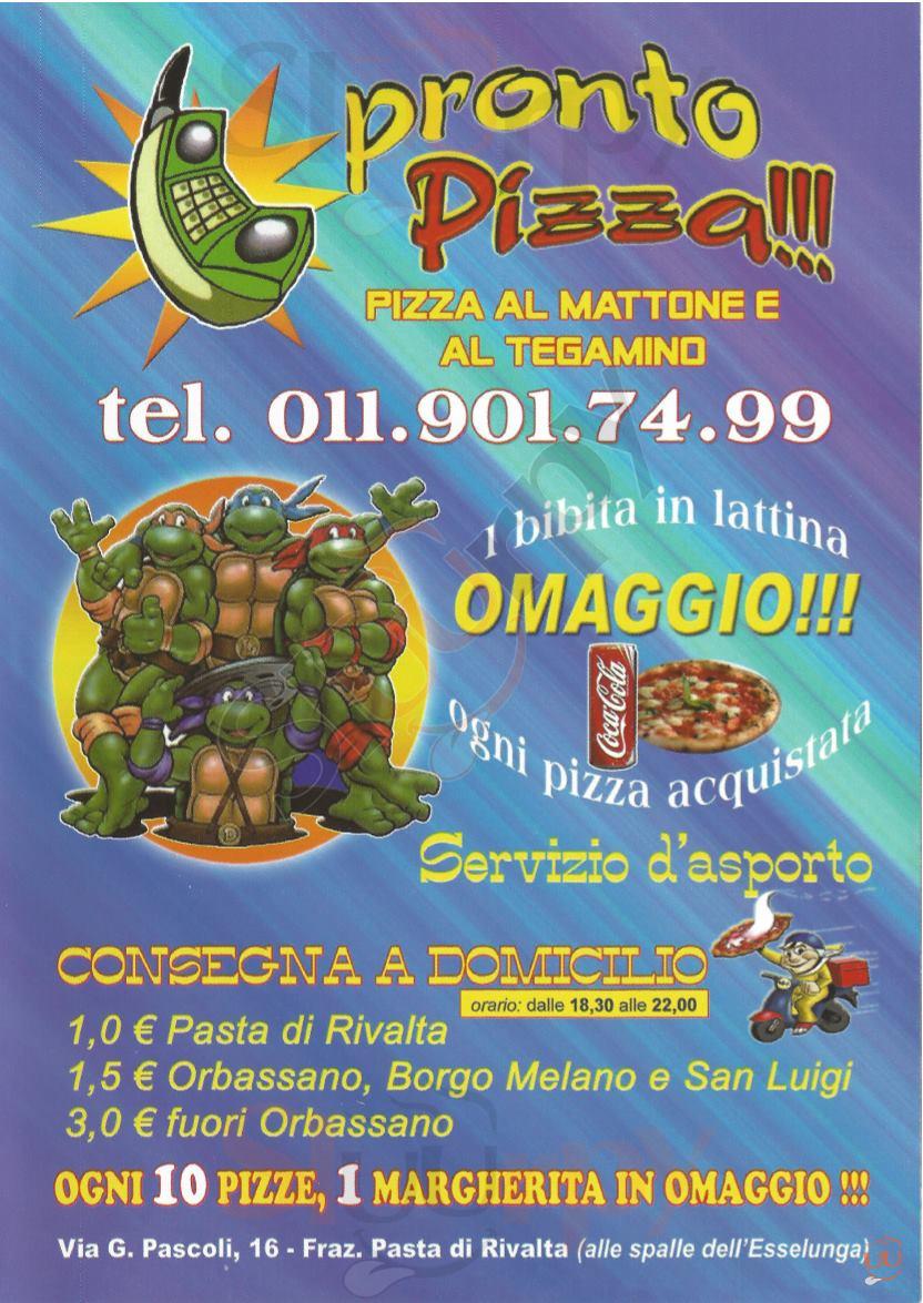 PRONTO PIZZA Rivalta di Torino menù 1 pagina