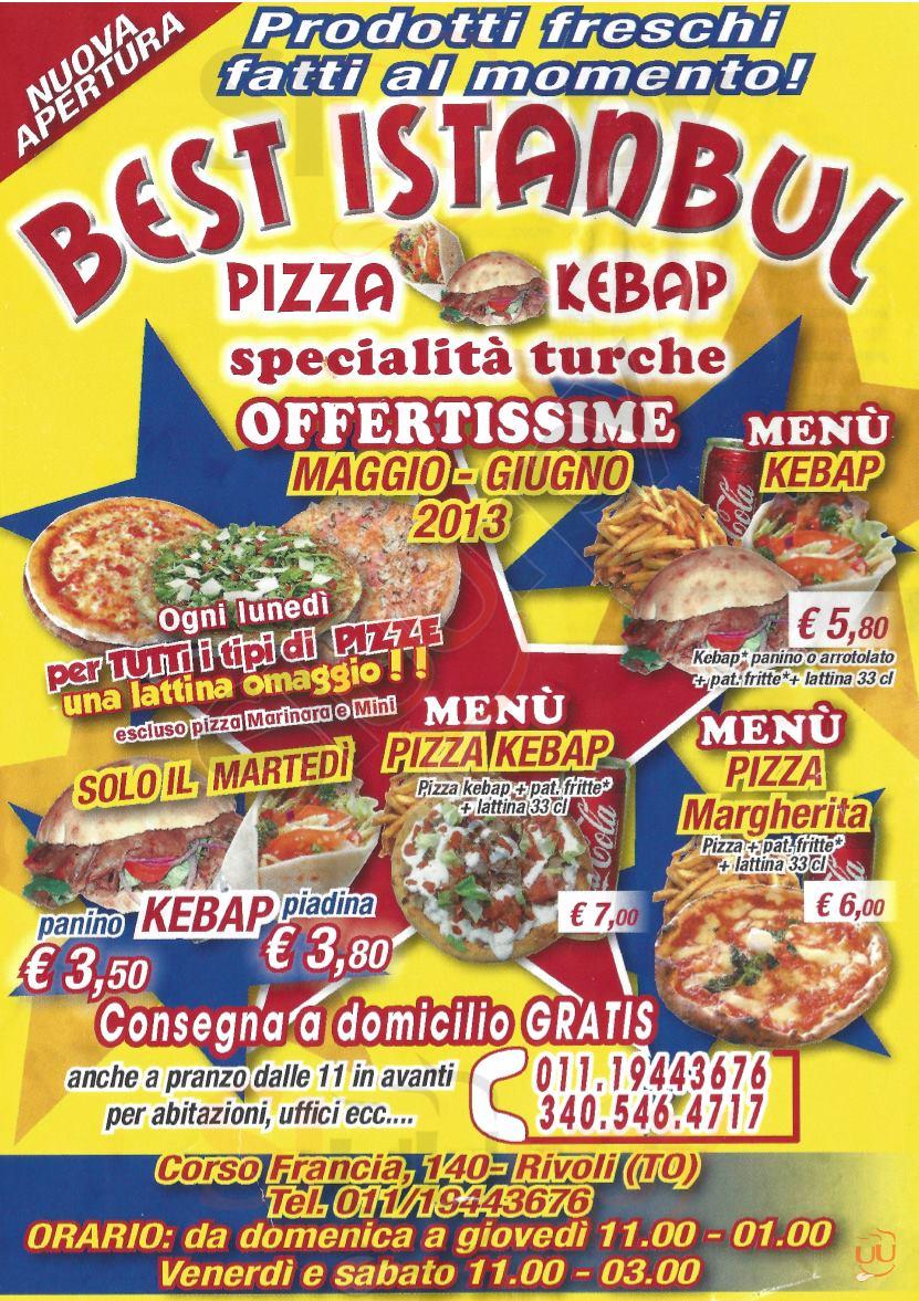 BEST ISTANBUL Rivoli menù 1 pagina