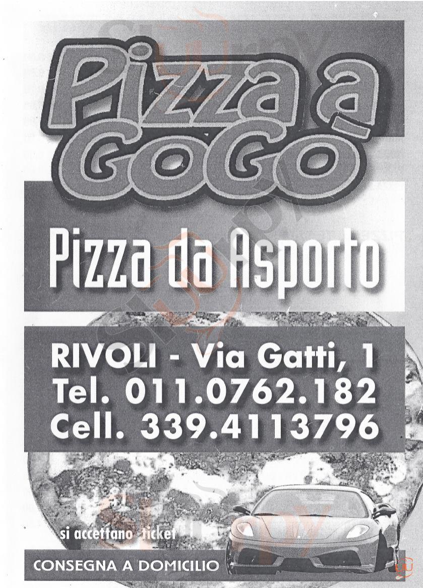 PIZZA A GOGO' Rivoli menù 1 pagina
