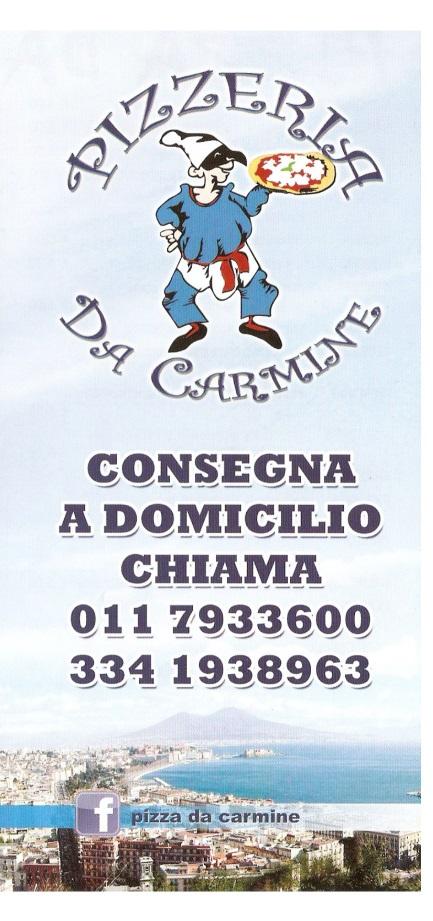 DA CARMINE Torino menù 1 pagina