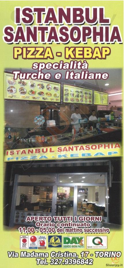 ISTANBUL SANTASOPHIA Torino menù 1 pagina