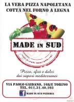 Menu MADE IN SUD