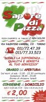 Menu SAPORE DI PIZZA