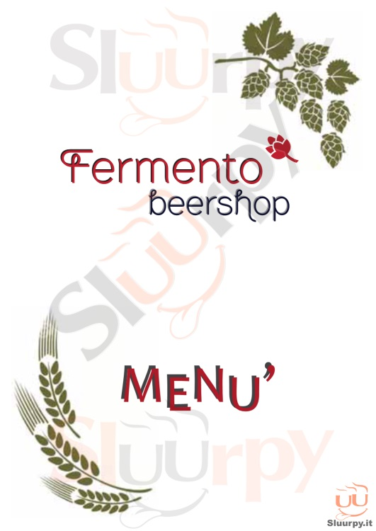FERMENTO BEERSHOP Bari menù 1 pagina