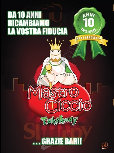 MASTRO CICCIO, Via Caccuri Bari menù 1 pagina