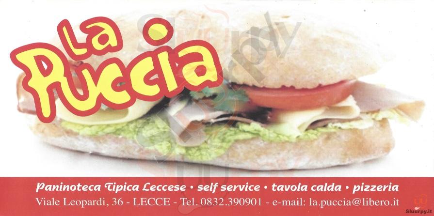 LA PUCCIA Lecce menù 1 pagina