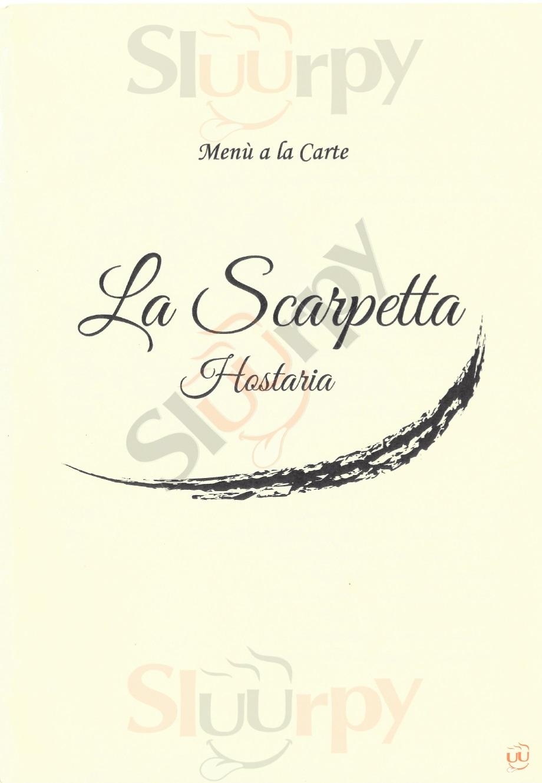 LA SCARPETTA Lecce menù 1 pagina