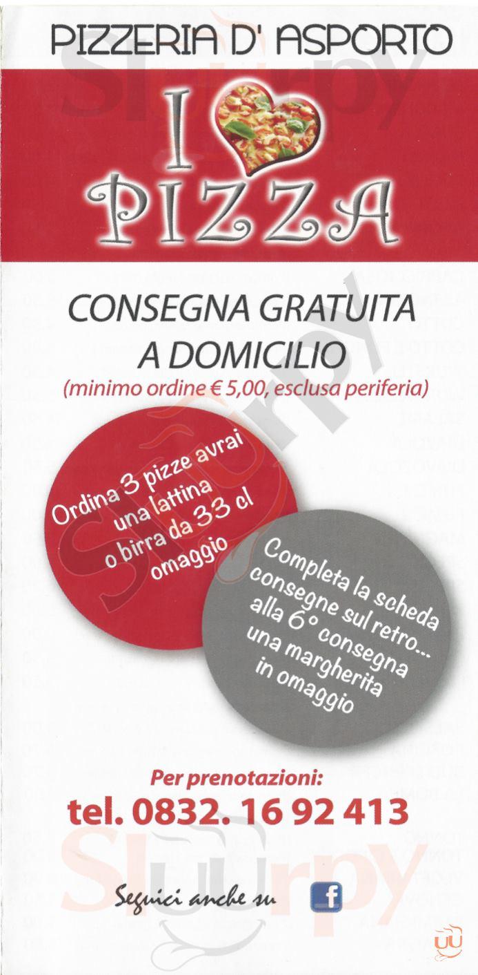 I LOVE PIZZA Lecce menù 1 pagina