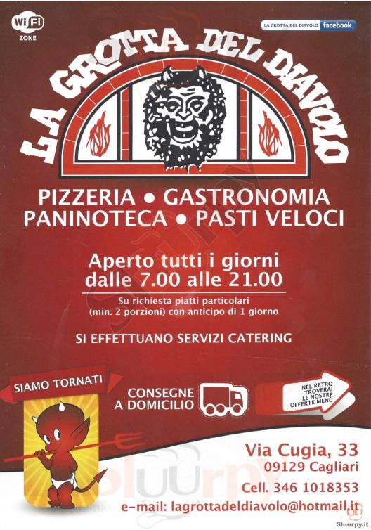 LA GROTTA DEL DIAVOLO Cagliari menù 1 pagina
