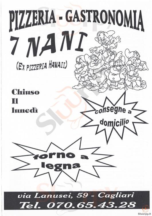7 NANI Cagliari menù 1 pagina