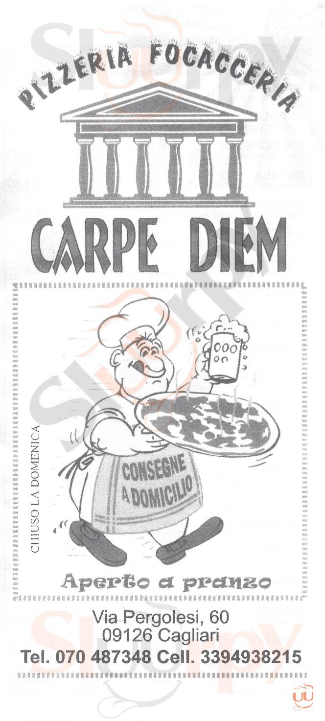 CARPE DIEM Cagliari menù 1 pagina