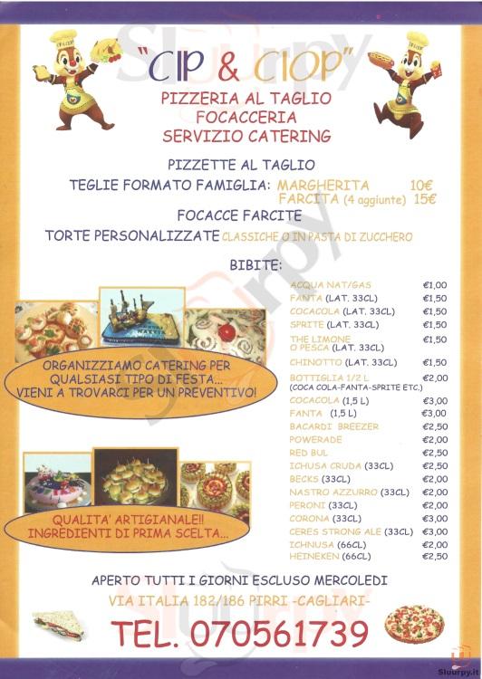 CIP & CIOP Cagliari menù 1 pagina