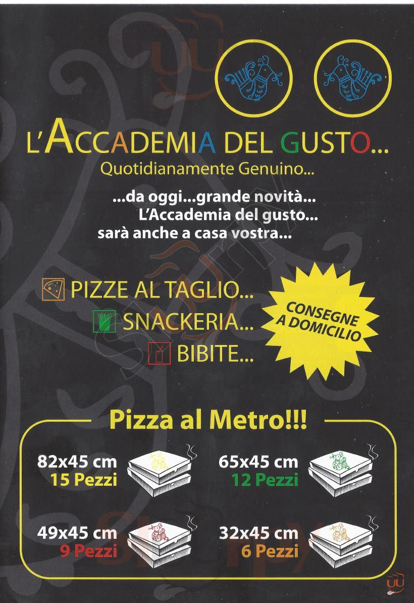 L'ACCADEMIA DEL GUSTO Cagliari menù 1 pagina