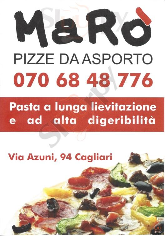 MARO Cagliari menù 1 pagina