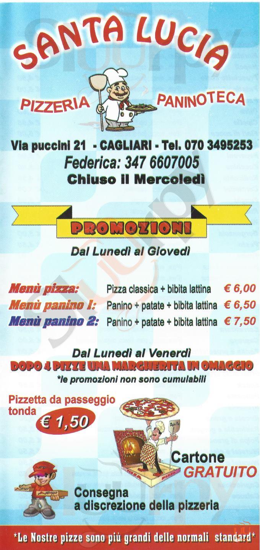SANTA LUCIA Cagliari menù 1 pagina