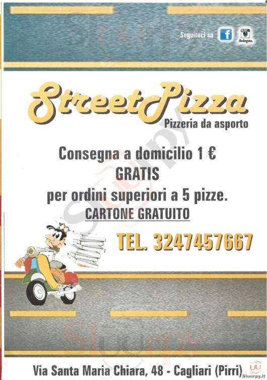 STREET PIZZA Cagliari menù 1 pagina