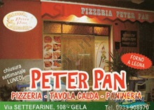 Menu PETER PAN