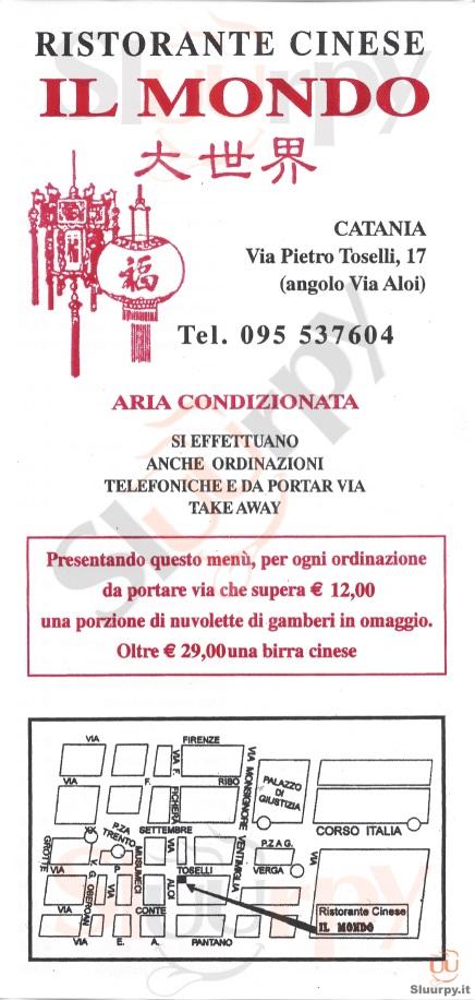 IL MONDO Catania menù 1 pagina